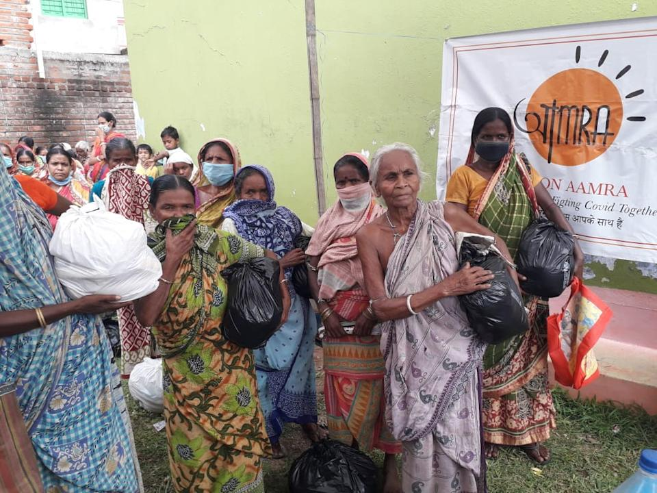 Food distributions made by Mission Aamra