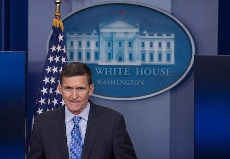 Former US national security advisory Michael Flynn is a key figure of interest in several probes into Russia's alleged interference in the 2016 election (AFP Photo/NICHOLAS KAMM)