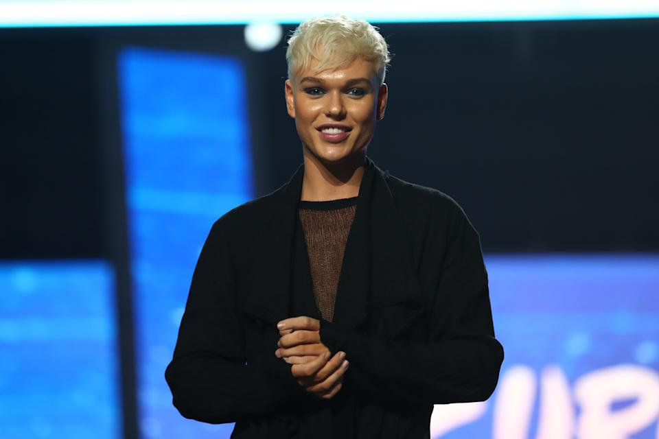 Jack Vidgen poses during a media call for Eurovision - Australia Decides at Gold Coast Convention and Exhibition Centre on February 07, 2020 in Gold Coast, Australia.
