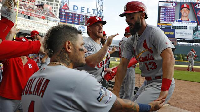 St Louis humbled Atlanta, cruising to a 13-1 victory in Game 5 of the NL Division Series on Wednesday – sealing a 3-2 success.