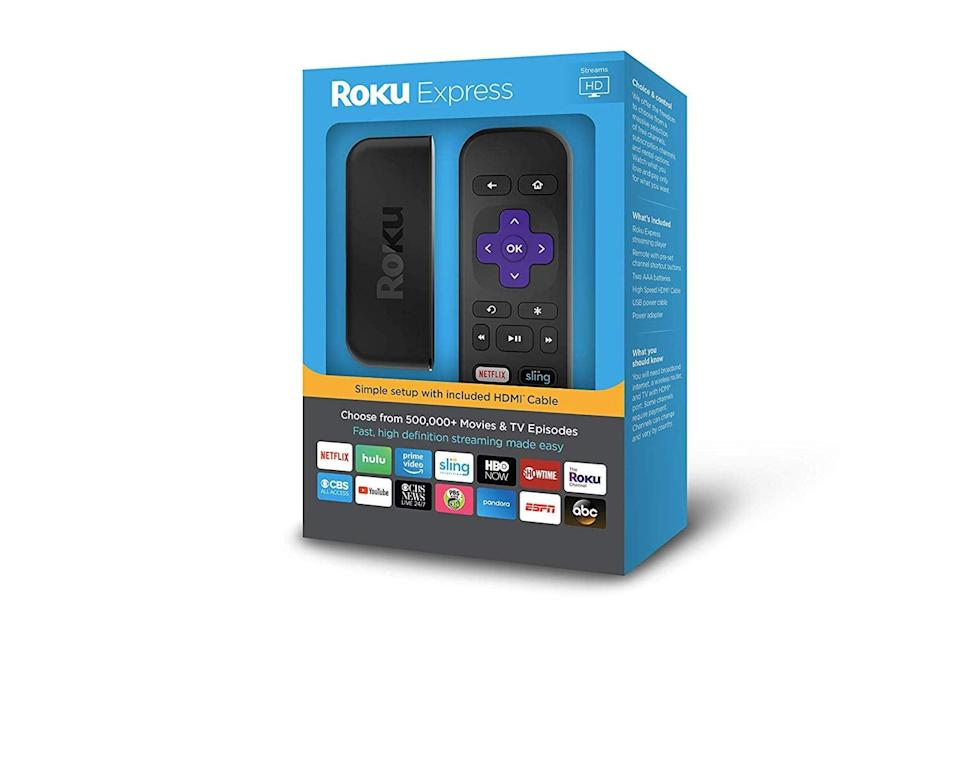 <p>This <span>Roku Express </span> ($29) is the most affordable option of its kind on the market. It's an easy set up that houses all your streaming services in one portable device.</p>