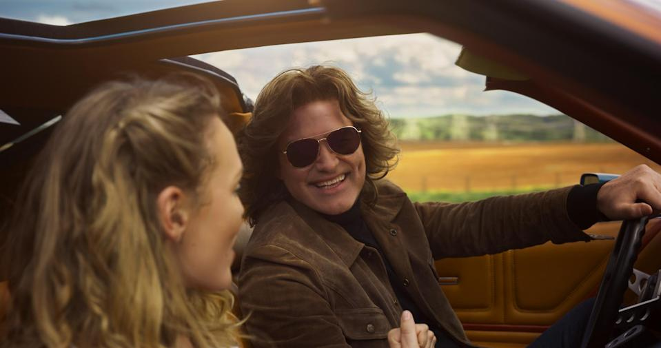 """The """"de-aged"""" Kurt Russell with Laura Haddock in <i>Guardians of the Galaxy, Vol. 2</i> (Photo: Marvel Studios)"""