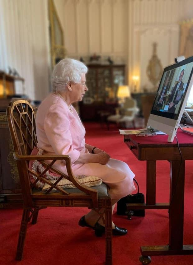 Queen Elizabeth has been holding virtual meetings while staying at Windsor Castle during the pandemic.