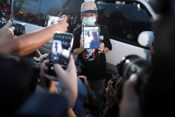 Thai protest leader jailed for insulting king gets bail, in Bangkok