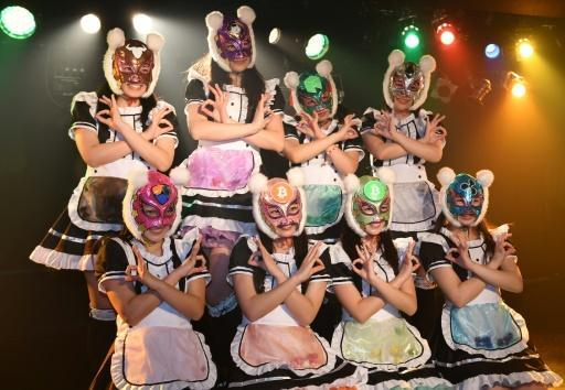 <p>Japan's 'Virtual Currency Girls' debut to fan frenzy</p>