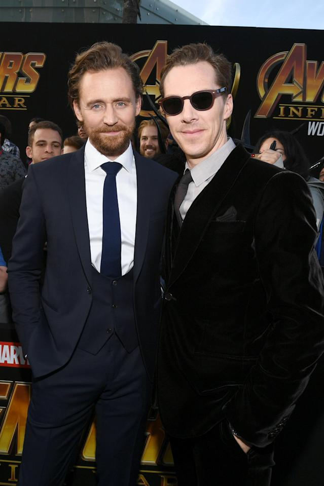<p>The two fan faves posed together. (Photo: Getty Images) </p>