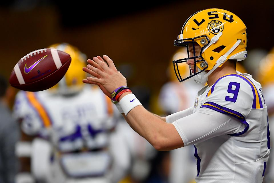 Joe Burrow, last year's Heisman Trophy winner at LSU, was the first pick of the draft to the Bengals. (Photo by Alika Jenner/Getty Images)