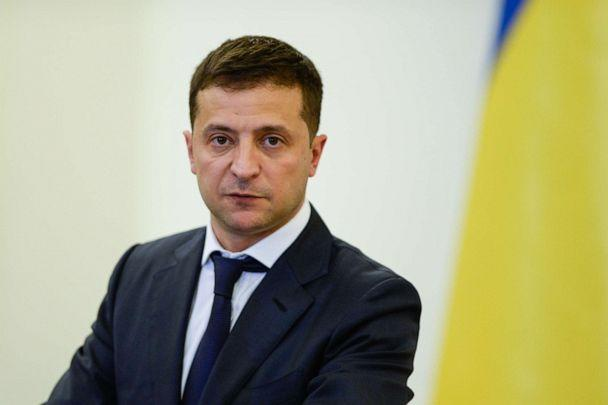 PHOTO: President of Ukraine, Volodymyr Zelensky speaks during a press conference after bilateral meetings at the Presidential Palace in Warsaw, Poland, Aug. 31, 2019. (Omar Marques/SOPA Images via Zuma Press, FILE)