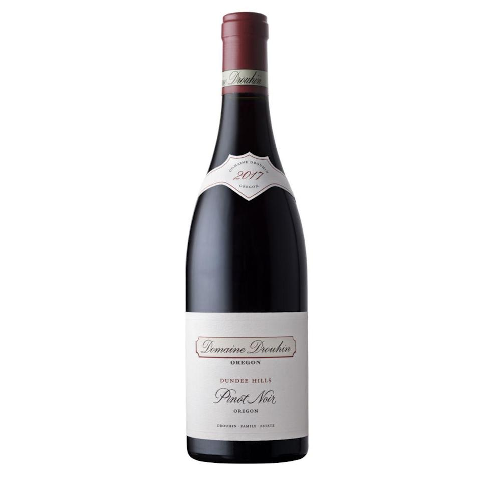 """<p>domainedrouhin.com</p><p><strong>$45.00</strong></p><p><a href=""""https://domainedrouhin.com/product/2017-dundee-hills-pinot-noir/"""" rel=""""nofollow noopener"""" target=""""_blank"""" data-ylk=""""slk:Shop Now"""" class=""""link rapid-noclick-resp"""">Shop Now</a></p><p>This elegant Pinot hails from Oregon's Dundee Hills and makes a stellar pairing for many a Thanksgiving main. Beautiful cherry, red currants, violets, and cinnamon notes dominate the palate, offering a wealth of nuance and a food-friendly profile.</p>"""
