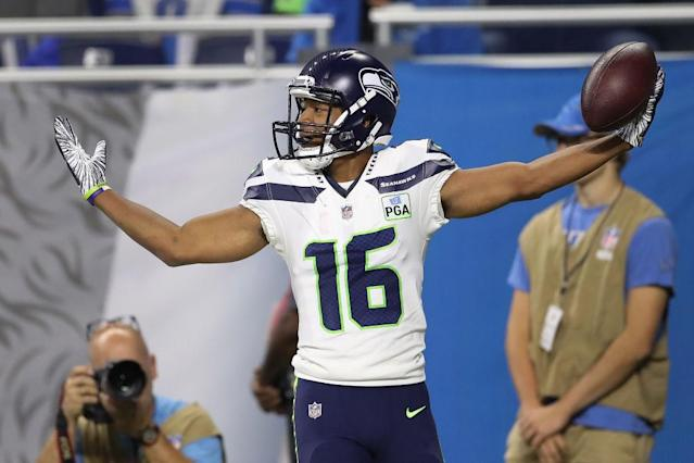 "<a class=""link rapid-noclick-resp"" href=""/nfl/players/28457/"" data-ylk=""slk:Tyler Lockett"">Tyler Lockett</a> could be in for a good day against the Rams' suspect secondary. (Getty)"