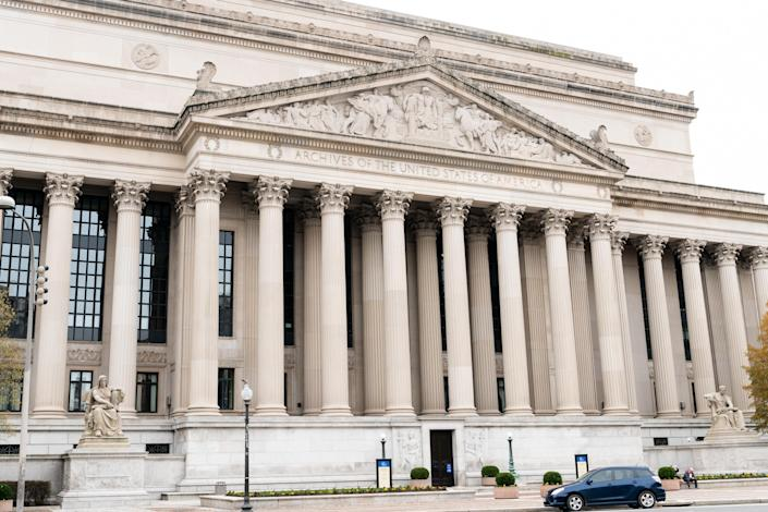 The National Archives building in Washington, D.C. (Michael Brochstein/SOPA Images/LightRocket via Getty Images)