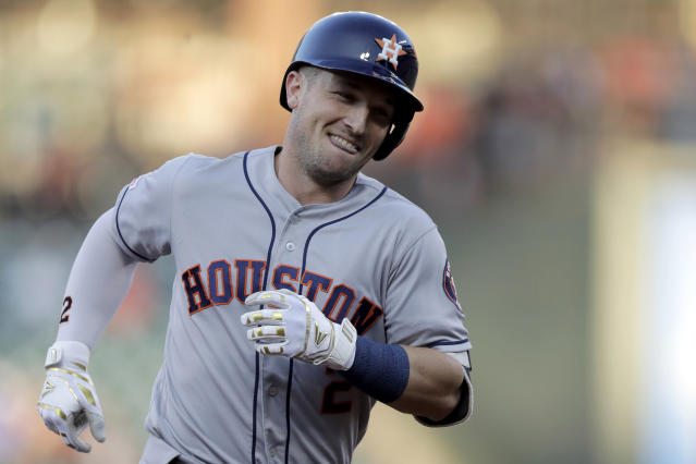 Everything is coming up Houston Astros in the latest MLB Power Rankings. (AP Photo/Julio Cortez)