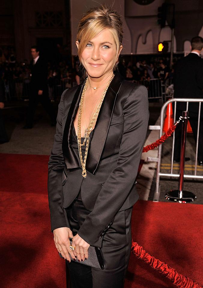"""<a href=""""http://movies.yahoo.com/movie/contributor/1800021397"""">Jennifer Aniston</a> at the Los Angeles premiere of <a href=""""http://movies.yahoo.com/movie/1809932969/info"""">He's Just Not That Into You</a> - 02/02/2009"""