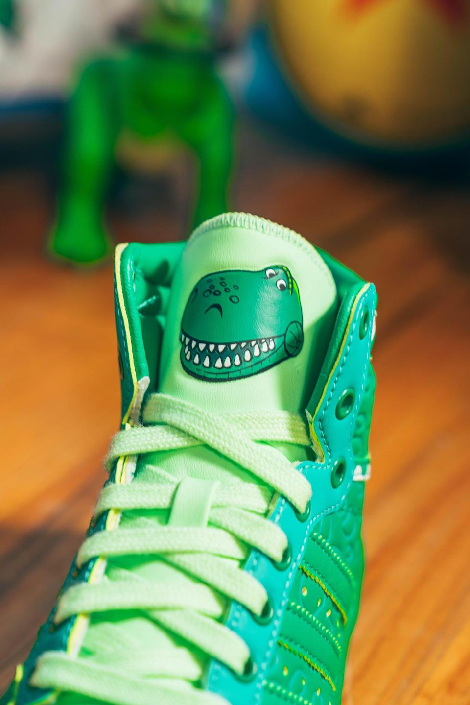 <p>We love the sweet detail on the Adidas Rex x Top Ten Hi Shoes!</p>