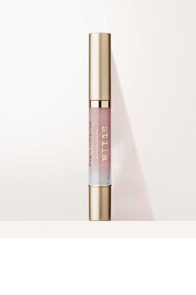 """<h3>Stila Plumping Lip Glaze</h3> <br>""""As a teenager, being able to work in beauty was truly the stuff of my wildest dreams. One of the first 'fancy' products I received as a gift was a set of mini twist-up glosses from Stila. It didn't matter how sticky the formula was (it was the '00s!), but I never felt cooler than with my trusty, vanilla-scented sparkly gloss. Years passed, and words couldn't express my joy when I saw that Stila was bringing back a new-and-improved gloss in the clicky pen that means so much to me. Something tells me that the Kitten shade (a sparkly beige) will be a new all-time favorite of mine."""" — Hoshikawa<br><br><strong>Stila</strong> Plumping Lip Glaze, $, available at <a href=""""https://go.skimresources.com/?id=30283X879131&url=https%3A%2F%2Fwww.stilacosmetics.com%2Fplumping-lip-glaze%2FSC54.html"""" rel=""""nofollow noopener"""" target=""""_blank"""" data-ylk=""""slk:Stila"""" class=""""link rapid-noclick-resp"""">Stila</a><br>"""