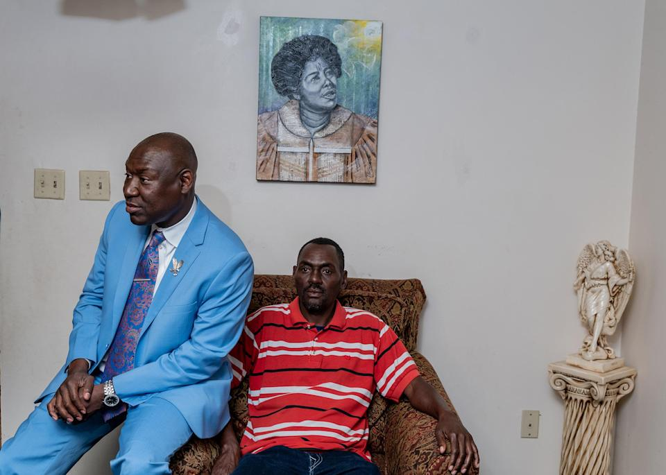 """Crump sits with his Uncle Harold at his Mother's home in Tallahassee, Fla., on April 4.<span class=""""copyright"""">Ruddy Roye for TIME</span>"""