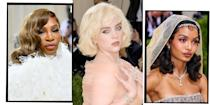 """<p>It's been a moment, but the <a href=""""https://www.elle.com/uk/fashion/a39815/met-gala-everything-you-need-to-know/"""" rel=""""nofollow noopener"""" target=""""_blank"""" data-ylk=""""slk:Met Gala"""" class=""""link rapid-noclick-resp"""">Met Gala</a> is back. It might not be on the first Monday in May this year, but New York Fashion Week's unofficial closing ceremony for SS22 is set to be the most celebratory return to the red carpet yet. </p><p>The most fabulous event in the fashion calendar, you're no one until you're attending the annual themed gala, haute couture ballgown and designer date in tow. But the bit we look forward to? Checking out how the A-list work their hair and make-up to fit each year's slightly eccentric theme. From Lady Gaga's uber long foil eyelashes at the last <a href=""""https://www.elle.com/uk/beauty/g27305530/met-gala-2019-best-hair-makeup/"""" rel=""""nofollow noopener"""" target=""""_blank"""" data-ylk=""""slk:Met Gala in 2019"""" class=""""link rapid-noclick-resp"""">Met Gala in 2019</a>, to all manner of veils, headdresses and crowns at <a href=""""https://www.elle.com/uk/beauty/g19888778/met-gala-2018-best-hair-and-makeup/"""" rel=""""nofollow noopener"""" target=""""_blank"""" data-ylk=""""slk:2018's ball"""" class=""""link rapid-noclick-resp"""">2018's ball</a>, the Met Gala never fails to bring the beauty realness. </p><p>Read on for the best Met Gala 2021 celebrity hair and make-up looks you need to see...</p>"""