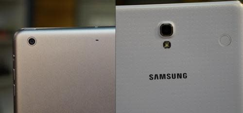 iPad mini and Samsung Galaxy Tab S cameras