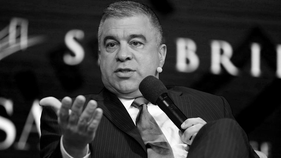 David Bossie, Donald Trump's deputy campaign manager and political activist, speaks during the SALT conference in Las Vegas, Nevada, U.S. May 18, 2017.  (Richard Brian/Reuters)