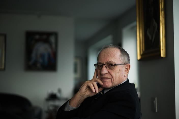 Prominent lawyer Alan Dershowitz, who was at one point contacted by the shadowy hacker who went by the pseudonym Patrick Kessler, in Manhattan, Nov. 11, 2015.