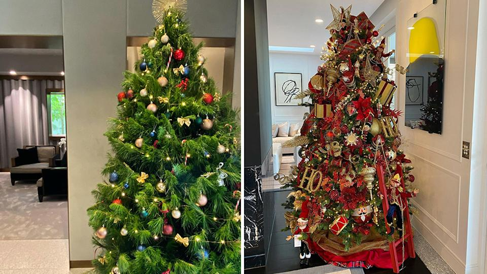 Roxy Jacenko two Christmas trees side by side