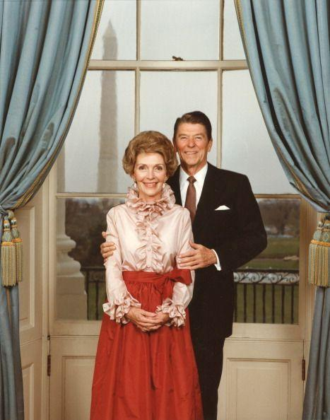 <p>This official portrait of the President and First Lady was taken in the White House just before Reagan began his second term.</p>