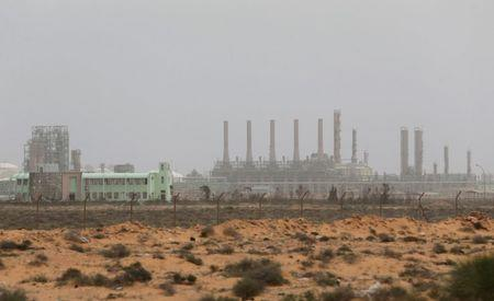 View shows Ras Lanuf Oil and Gas Company in Ras Lanuf