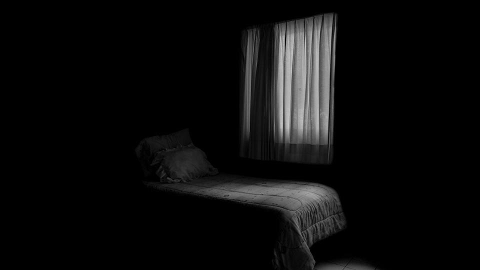 """<p>Making your bedroom into a dark, cool place prompts deeper sleep, Wells says. If you tend to wake up easily whenever there's sound, she suggests adding a <a href=""""//www.runnersworld.com/health-injuries/a20864165/white-noise-machines-for-sleep/"""" data-ylk=""""slk:white noise machine"""" class=""""link rapid-noclick-resp"""">white noise machine</a>.</p>"""