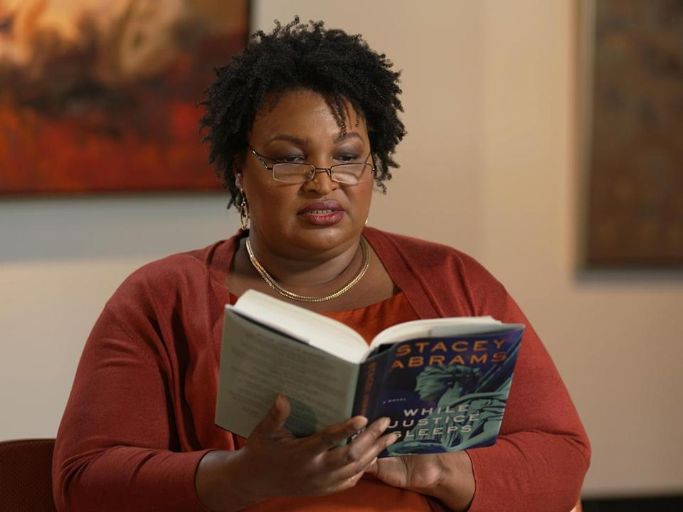 Voting rights advocate Stacey Abrams is also an author of romance novels and a new political thriller,