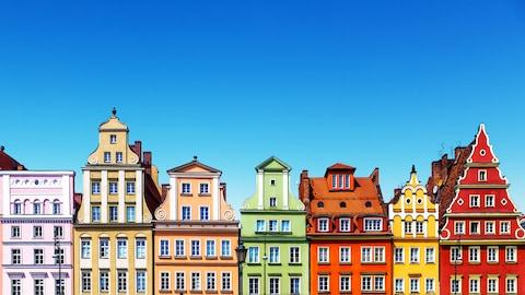 Pastel houses in Wroclaw - Credit: istock