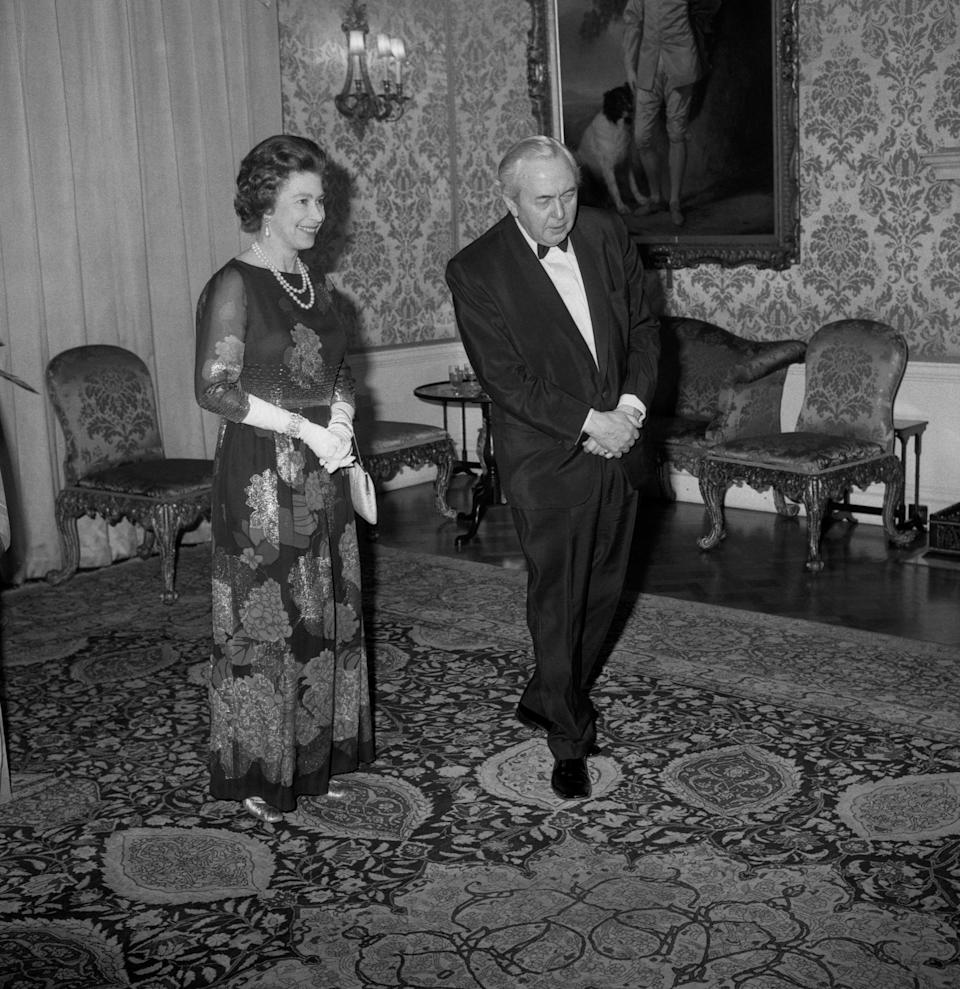 Mr Wilson was the Queen's first Labour prime minister and it's said that they enjoyed long walks at Balmoral together when he visited her Scottish estate. [Photo: PA]