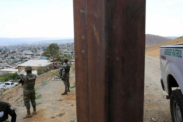 PHOTO: A U.S. Customs and Border Protection vehicle parks next to border fence between Mexico and U.S. as seen from Tijuana, Mexico, July 23, 2019. (Carlos Jasso/Reuters)