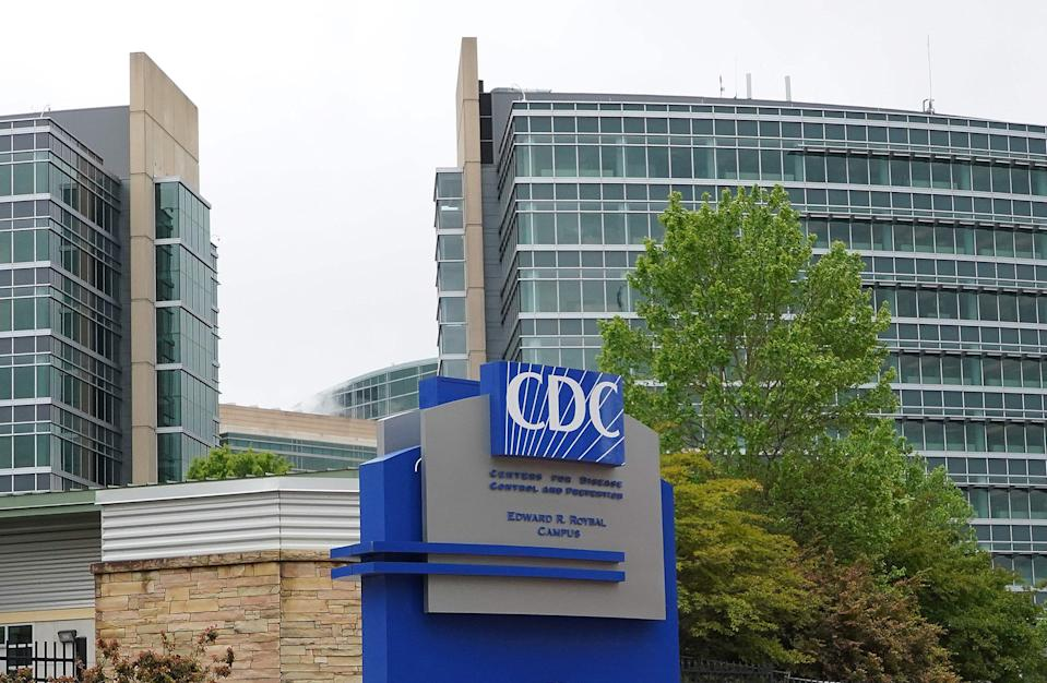 In this file photo taken on April 24, 2020, shows the Centers for Disease Control (CDC) headquarters in Atlanta, Georgia.