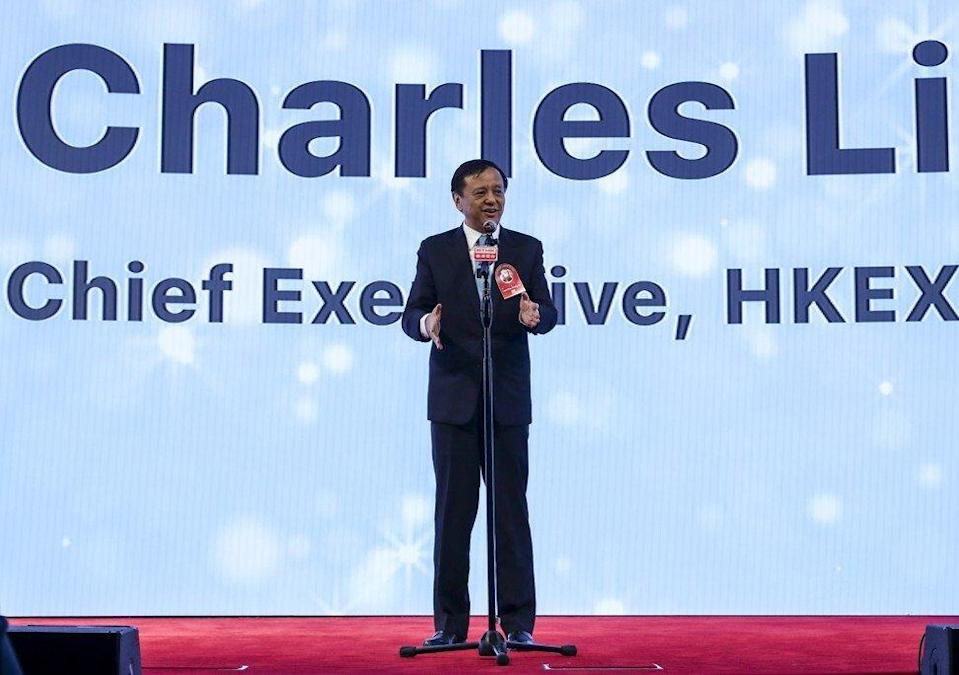 Charles Li, chief executive of the HKEX from 2010 to 2020, during an HKEX event at Exchange Square in Hong Kong on November 7, 2019. Photo: Xiaomei Chen