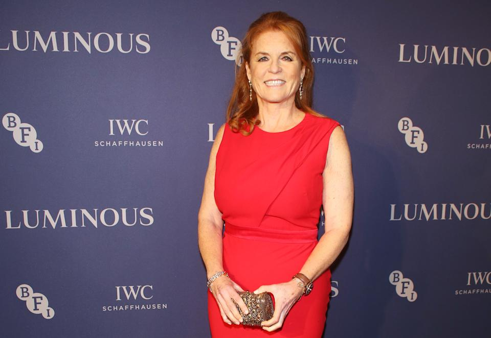LONDON, ENGLAND - OCTOBER 01:   Sarah Ferguson, Duchess of York attends the BFI & IWC Luminous Gala at The Roundhouse on October 1, 2019 in London, England. During the event, Oscar-winning director Danny Boyle presented the fourth