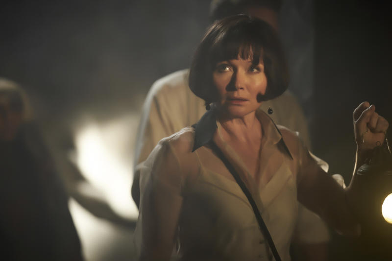 "This image released by Acorn TV shows Essie Davis as Phryne Fisher in a scene from ""Miss Fisher and The Crypt of Tears.""  The film will have a limited theater release before it streams on Acorn TV. (Acorn TV via AP)"
