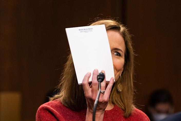 amy coney barrett notepad