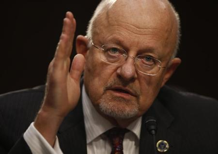 Director of National Intelligence Clapper testifies at Senate Intelligence Committee hearing the Foreign Intelligence Surveillance Act legislation on Capitol Hill in Washington