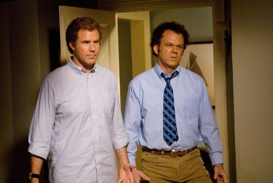 "<p>Few movies make us laugh as hard as Will Ferrell and John C. Reilly's <em>Step Brothers</em>—even on the 100th rewatch. The job interview sequence, the Catalina Wine Mixer, the ""did we just become best friends?"" moment, and those stellar supporting turns from Adam Scott and Kathryn Hahn are giggle-inducing every time. </p> <p><a href=""https://www.netflix.com/title/70093991"" rel=""nofollow noopener"" target=""_blank"" data-ylk=""slk:Available to stream on Netflix."" class=""link rapid-noclick-resp""><em>Available to stream on Netflix.</em></a></p>"