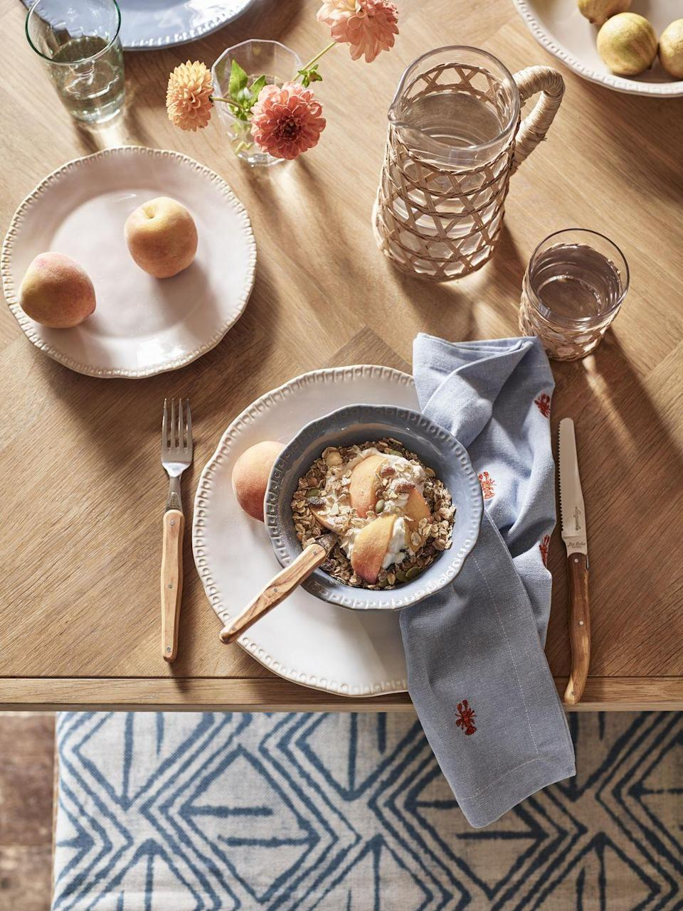 """<p>Spruce up your kitchen this season with John Lewis' range of gorgeous napkins, tableware, glasses and cutlery. With cereal bowls starting from just £6, there's something here for everyone. Coffee, anyone? </p><p><a class=""""link rapid-noclick-resp"""" href=""""https://go.redirectingat.com?id=127X1599956&url=https%3A%2F%2Fwww.johnlewis.com%2Fbrowse%2Fhome-garden%2Fnew-in-home%2F_%2FN-7opk&sref=https%3A%2F%2Fwww.housebeautiful.com%2Fuk%2Flifestyle%2Fshopping%2Fg35369005%2Fjohn-lewis-partners-homeware-spring-summer%2F"""" rel=""""nofollow noopener"""" target=""""_blank"""" data-ylk=""""slk:SHOP NOW"""">SHOP NOW</a></p>"""
