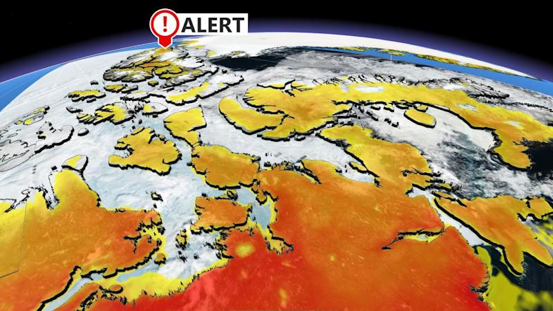 Most northern tip of Canadian Arctic sets June temperature record