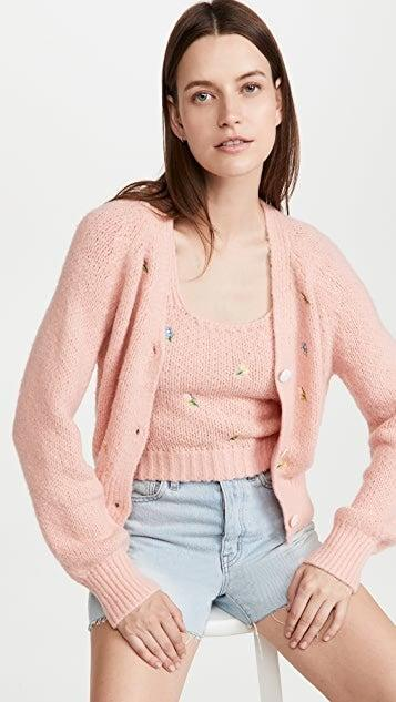 """<br><br><strong>English Factory</strong> Embroidered Knit Cardigan, $, available at <a href=""""https://go.skimresources.com/?id=30283X879131&url=https%3A%2F%2Fwww.shopbop.com%2Fembroidered-knit-cardigan-english-factory%2Fvp%2Fv%3D1%2F1554379524.htm"""" rel=""""nofollow noopener"""" target=""""_blank"""" data-ylk=""""slk:Shopbop"""" class=""""link rapid-noclick-resp"""">Shopbop</a><br><br><strong>English Factory</strong> Embroidered Knit Top, $, available at <a href=""""https://go.skimresources.com/?id=30283X879131&url=https%3A%2F%2Fwww.shopbop.com%2Fembroidered-knit-top-english-factory%2Fvp%2Fv%3D1%2F1541842555.htm"""" rel=""""nofollow noopener"""" target=""""_blank"""" data-ylk=""""slk:Shopbop"""" class=""""link rapid-noclick-resp"""">Shopbop</a>"""