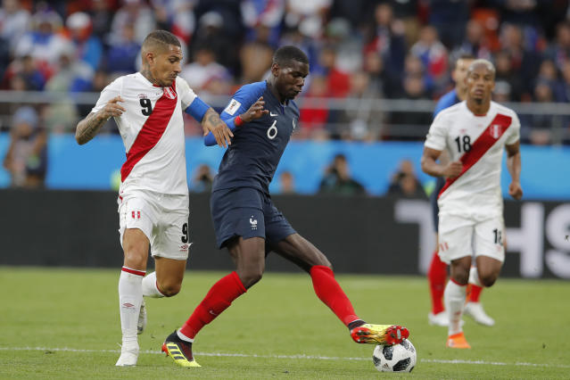 Paul Pogba hasn't been consistently great for 180 minutes, but he's won two games for France at the 2018 World Cup. (AP)