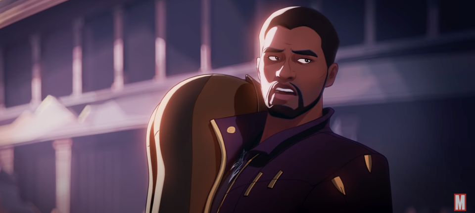 Chadwick Boseman makes his final appearance as T'Challah in the animated Disney+ series, 'What If...?' (Photo: Disney+/YouTube)