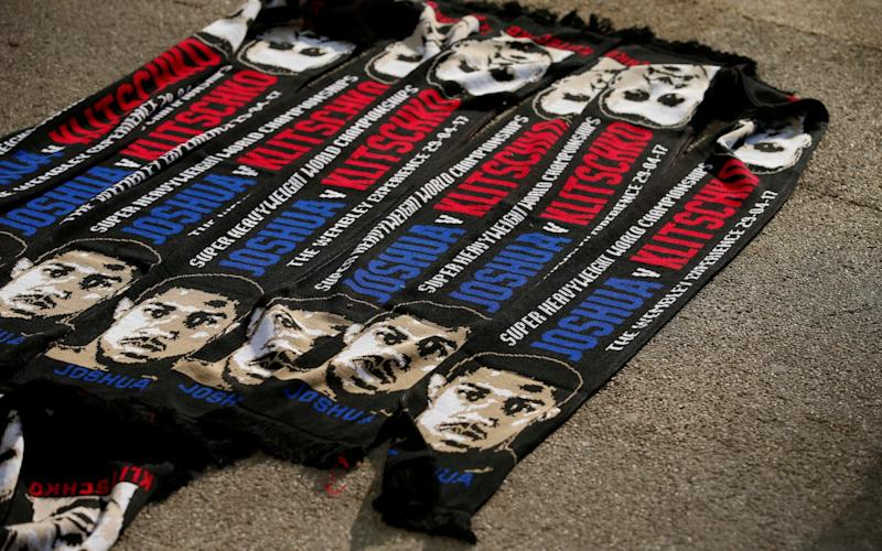 Fight night scarves for sale - Credit: Andrew Couldridge/Reuters