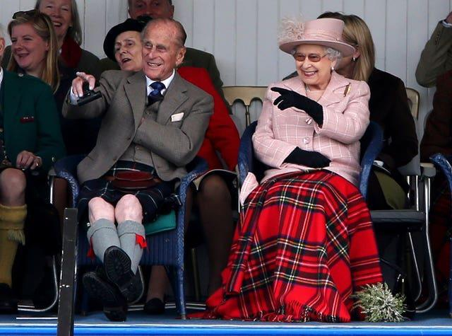 The Queen with the Duke of Edinburgh (Andrew Milligan/PA)