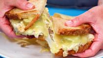 """<p>The tuna melt--you either love it or hate it. However, if you happen to be one of the few on the fence, you should definitely give this one a try. Our take on a classic <a href=""""https://www.myrecipes.com/t/fish/tuna"""" rel=""""nofollow noopener"""" target=""""_blank"""" data-ylk=""""slk:tuna"""" class=""""link rapid-noclick-resp"""">tuna</a> melt offers an element of childhood nostalgia, but with a layer of grown-up flavor. The incorporation of capers, Dijon, and fresh lemon juice give the tuna salad brightness and complexity to balance the buttery, toasted bread and rich, melty Swiss cheese. This <a href=""""https://www.myrecipes.com/sandwich-recipes"""" rel=""""nofollow noopener"""" target=""""_blank"""" data-ylk=""""slk:classic sandwich"""" class=""""link rapid-noclick-resp"""">classic sandwich</a> is also delightful when served open-faced, so feel free to lose the second slice of bread if you'd prefer. </p>"""
