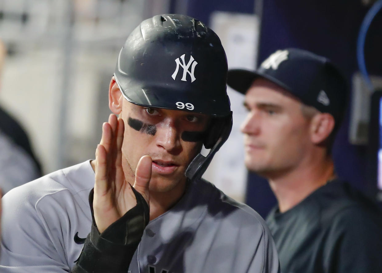 Aaron Judge and the Yankees are on a roll. (Photo by Todd Kirkland/Getty Images)