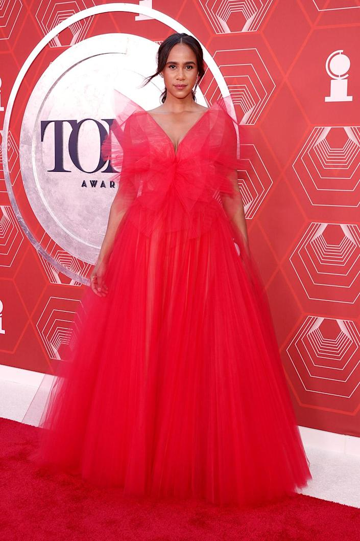 <p>Red-y or not, here comes Zawe Ashton! The <em>Betrayal</em> actress matched the carpet in a gorgeous red gown. </p>