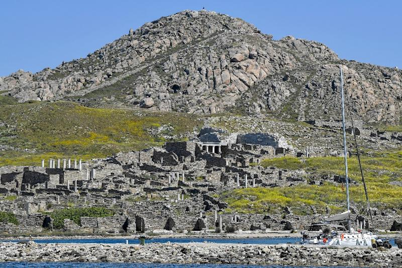 The UNESCO World Heritage listing for Delos describes it as an 'exceptionally extensive and rich' site (AFP Photo/LOUISA GOULIAMAKI)